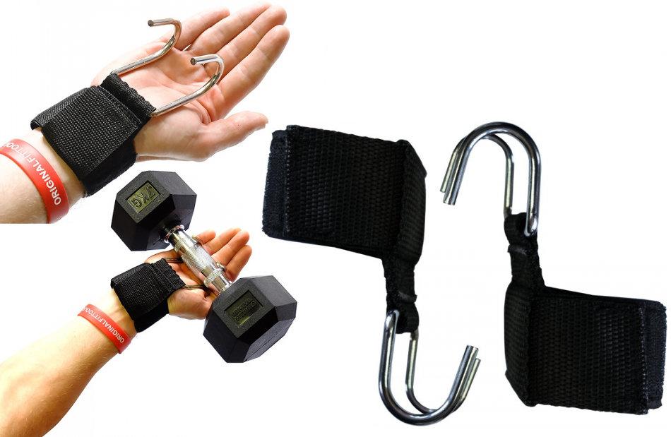 Аксессуары для тяжёлой атлетики Original Fit.Tools FT-PROGRIPS, Ремни на запястье с крюками для уменьшения нагрузки на пальцы (пара)
