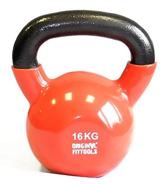 Гири Original Fit.Tools Гиря 16 кг обрезиненная цветная, FT-VKB-16