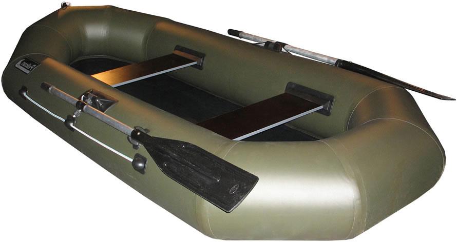 Двухместные надувные гребные лодки Пеликан Лодка гребная надувная Пеликан-250 (ПВХ, однослойное дно)