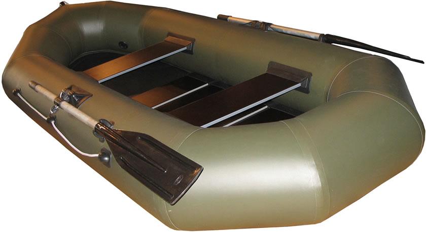 Двухместные надувные гребные лодки Пеликан Лодка гребная надувная Пеликан-250р (ПВХ, реечный настил)