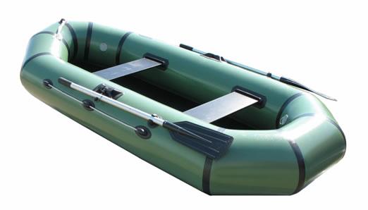 Двухместные надувные гребные лодки Пеликан Лодка гребная надувная Пеликан-268 (ПВХ, однослойное дно)
