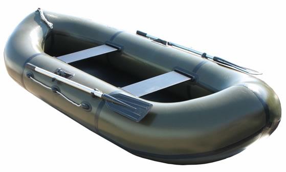 Двухместные надувные гребные лодки Пеликан Лодка гребная надувная Пеликан-281р (ПВХ, реечный настил)