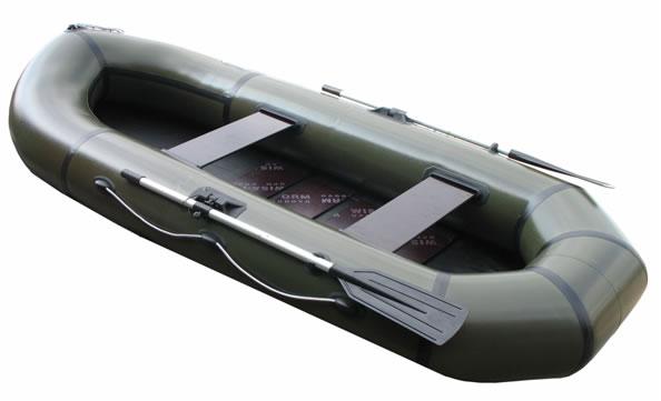 Двухместные надувные гребные лодки Пеликан Лодка гребная надувная Пеликан-285р (ПВХ, реечный настил)
