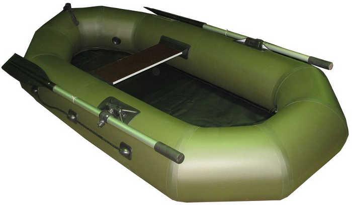 Одноместные и полуторные надувные гребные лодки Пеликан Лодка гребная надувная Пеликан-215 (ПВХ, однослойное дно)