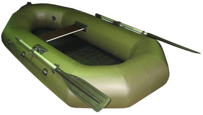 Одноместные и полуторные надувные гребные лодки Пеликан Лодка гребная надувная Пеликан-240 (ПВХ, однослойное дно)