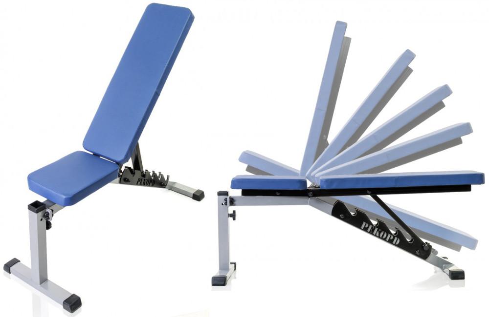 Скамьи, стойки и атлетические центры со свободной нагрузкой MironFit (Рекорд) Скамья универсальная усиленная, Rk-04