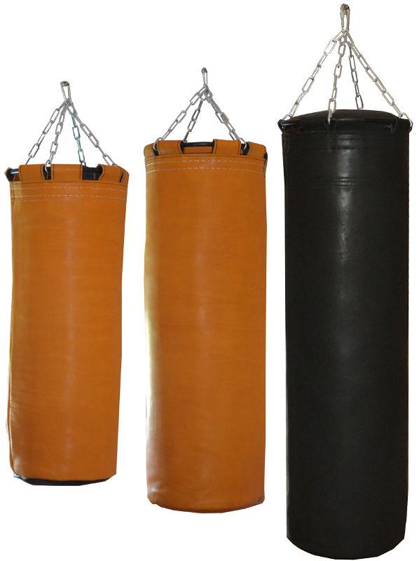 Мешки и груши подвесные Рокки Мешок боксерский, натуральная кожа, 120 см