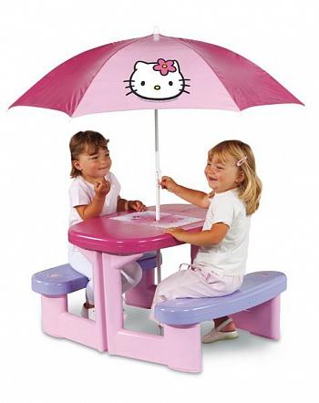 Прочее оборудование для детских площадок и игровых центров Smoby 310164 / 310274, Столик для пикника с зонтом