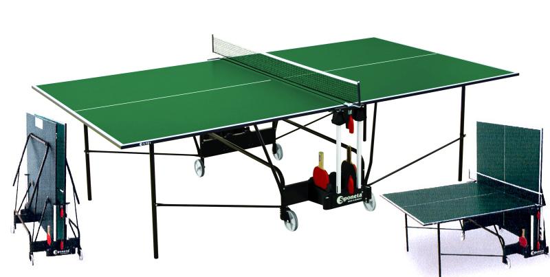 Любительские теннисные столы для внутренних помещений Sponeta S1-72i / S1-73i, Стол для настольного тенниса для внутренних помещений Hobby Indoor с сеткой