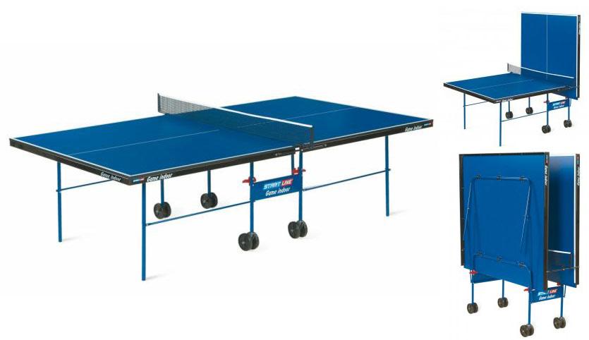 Любительские теннисные столы для внутренних помещений Start Line 6031, Стол для настольного тенниса для внутренних помещений Game Indoor с сеткой