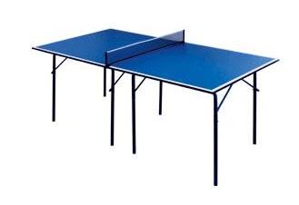 Столы для настольного тенниса небольших размеров Start Line 6011, Теннисный стол Cadet складной с сеткой (синий)