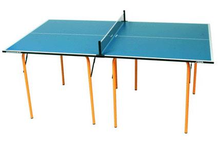 Столы для настольного тенниса небольших размеров Stiga 7157-00, Теннисный стол складной Миди (Midi) с сеткой (серый, синий)