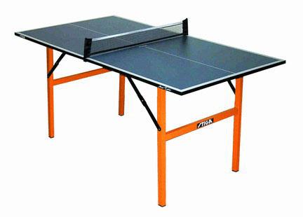 Столы для настольного тенниса небольших размеров Stiga 7153-00, Теннисный стол складной Мини (Mini) с сеткой (синий)