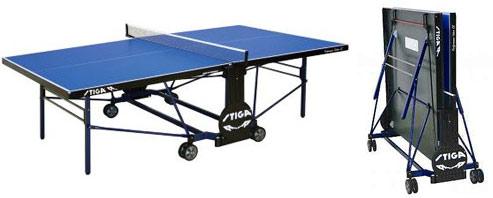 Всепогодные и влагостойкие теннисные столы Stiga 7183-05, Теннисный стол всепогодный Перформанс Аутдор СиЭс (Performance Outdoor CS) с сеткой (синий)