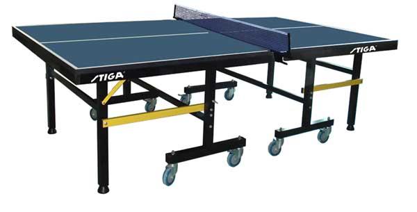 Профессиональные и тренировочные теннисные столы Stiga Теннисный стол складной Премиум Роллер (Premium Roller) синий (зеленый)