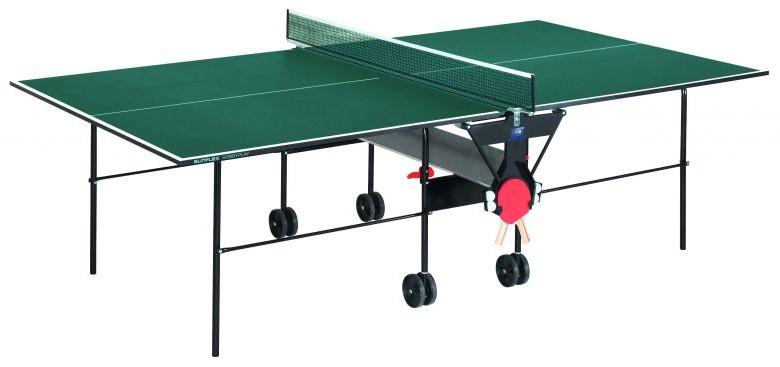 Любительские теннисные столы для внутренних помещений SunFlex Стол для настольного тенниса для помещений Хоббиплэй Индор (Hobbyplay Indoor) 16 мм, 210.1031 - зелёный / 210.3011 - синий