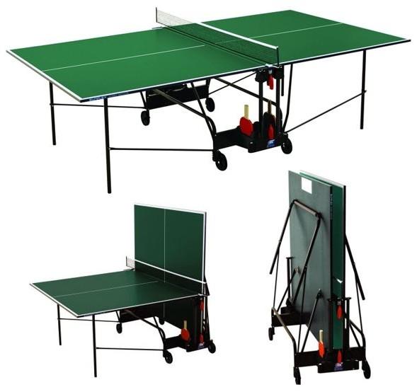 Любительские теннисные столы для внутренних помещений SunFlex Стол для настольного тенниса для помещений Хобби Индор (Hobby Indoor) 19 мм, 220.1010 - зелёный / 220.3030 - синий