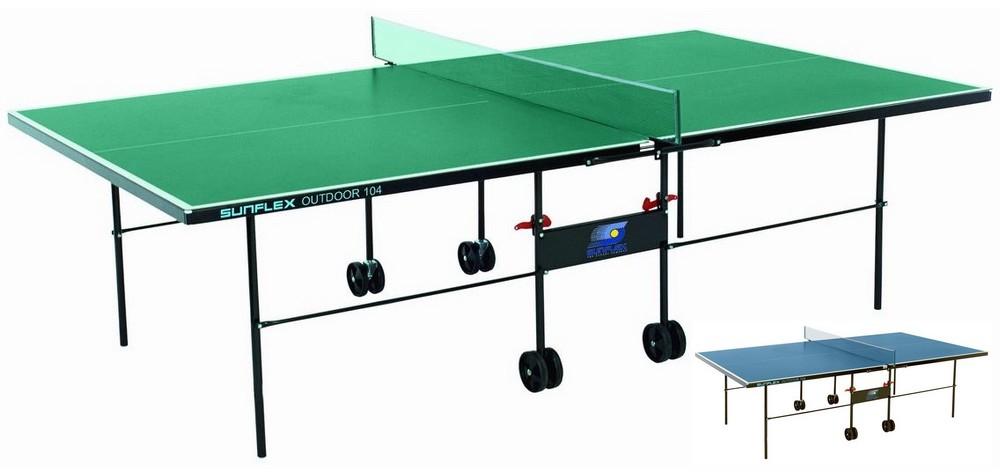 Всепогодные и влагостойкие теннисные столы SunFlex Стол для настольного тенниса всепогодный Аутдор (Outdoor), 240.7031 - синий / 240.5031 - зелёный