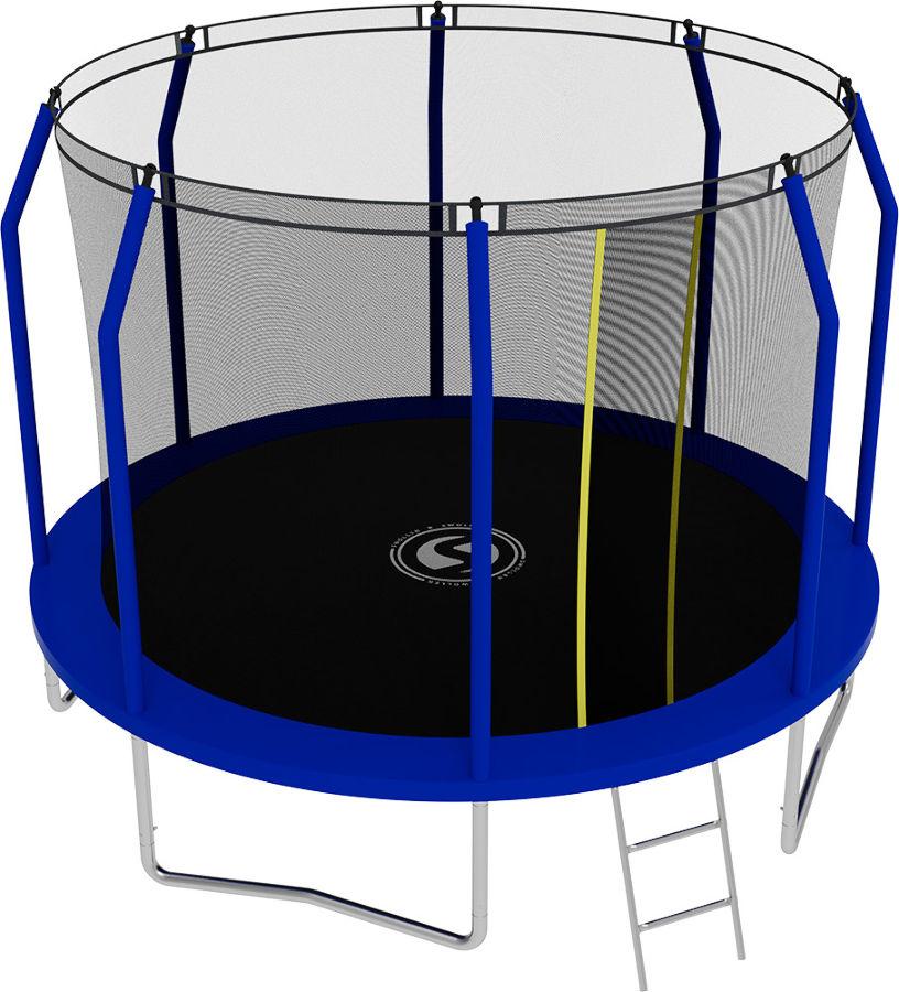 Батуты с защитной сеткой, диаметром от 3-х до 4-х метров Swollen Батут Comfort 10 футов (305 см), синий