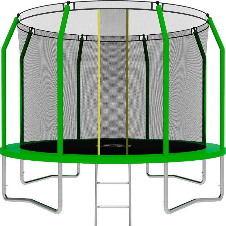 Батуты с защитной сеткой, диаметром от 3-х до 4-х метров Swollen Батут Comfort 10 футов (305 см), зелёный
