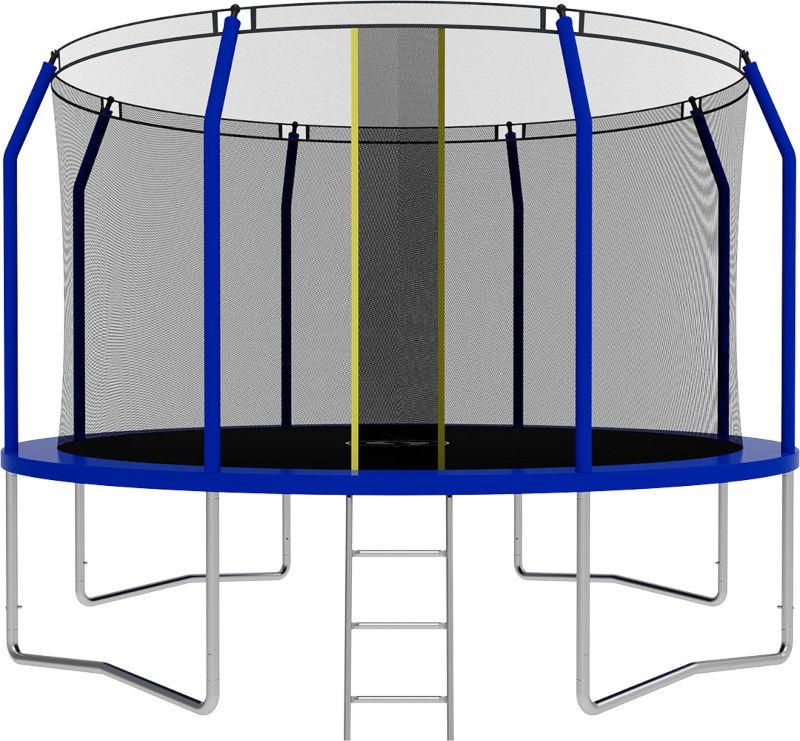 Батуты с защитной сеткой, диаметром от 3-х до 4-х метров Swollen Батут Comfort 12 футов (366 см), синий