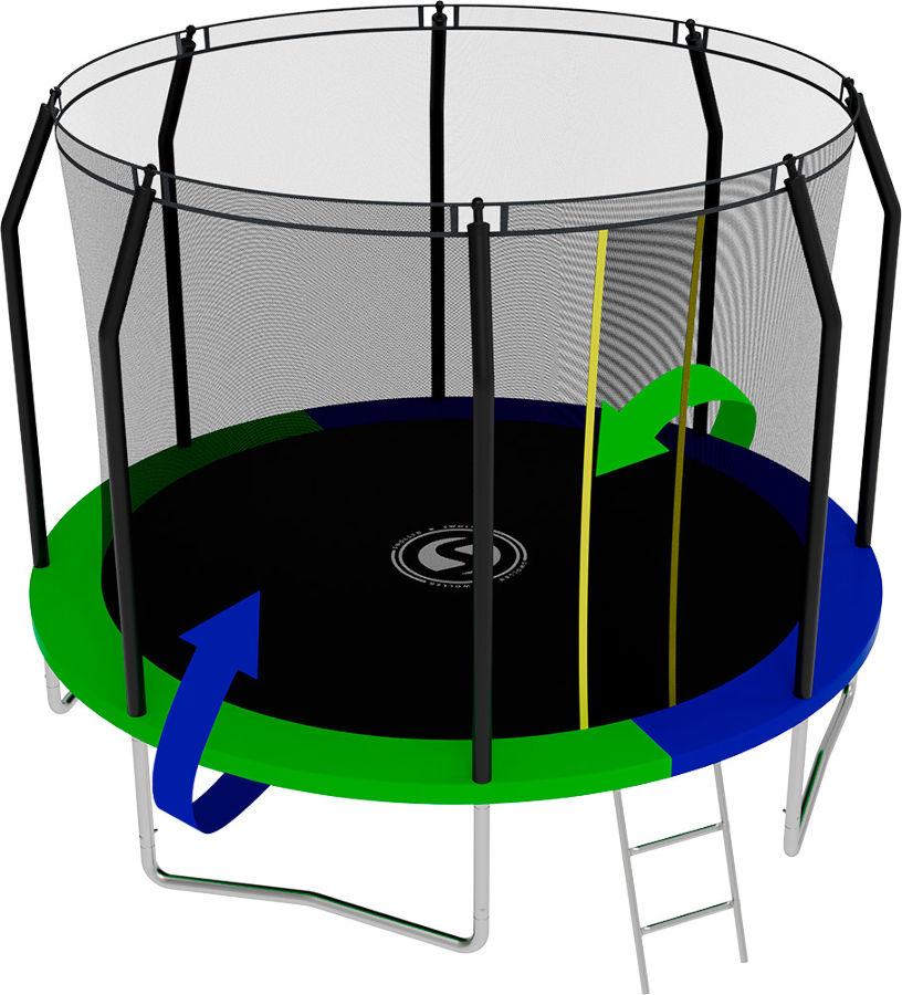 Батуты с защитной сеткой, диаметром от 3-х до 4-х метров Swollen Батут Prime 10 футов (305 см)