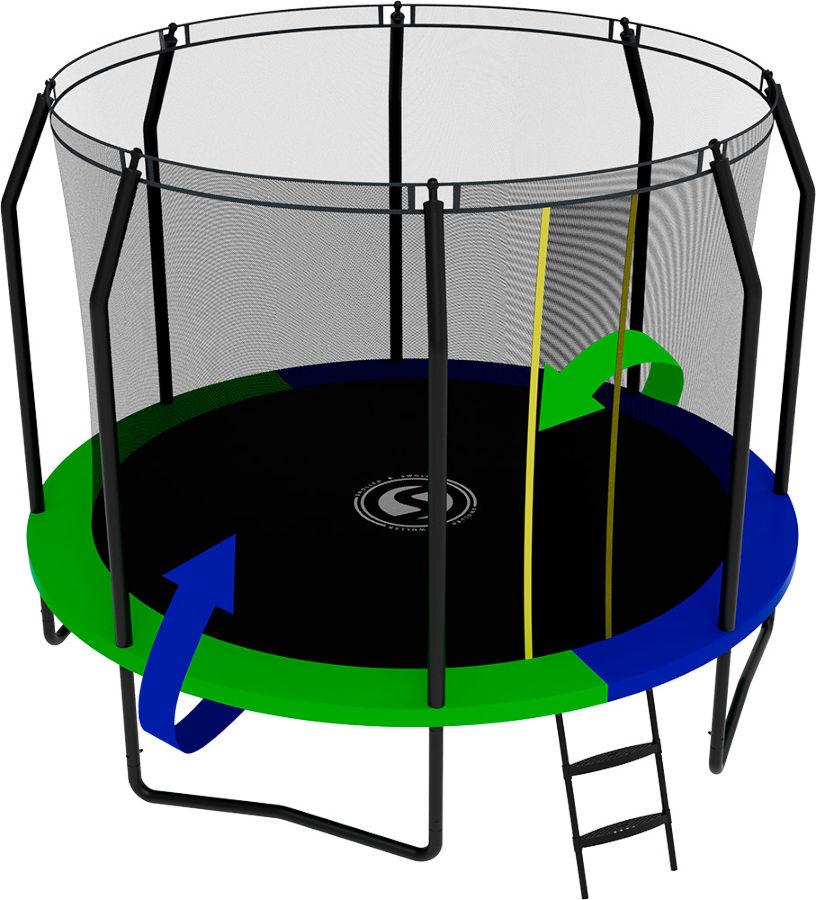 Батуты с защитной сеткой, диаметром от 3-х до 4-х метров Swollen Батут Prime Black 10 футов (305 см)