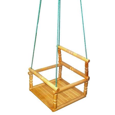 Навесное оборудование и дополнения для спортивных комплексов ТМК Качели детские деревянные (лак)