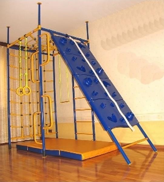 Нестандартные комплексы (крепление враспор) Вереск Домашний спортивный комплекс «5-ти опорный со скалодромом»