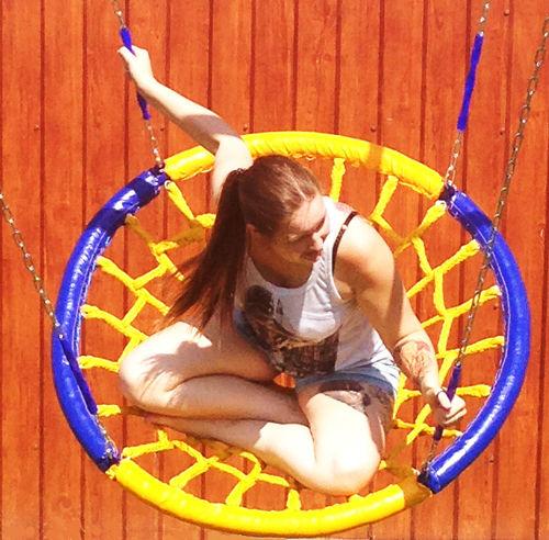 Навесное оборудование и дополнения для спортивных комплексов Вереск Качели-гнездо с подвесом на цепях (диаметр 1 метр)