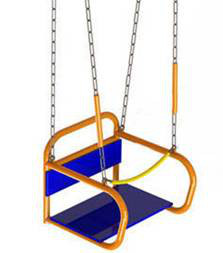 Навесное оборудование и дополнения для спортивных комплексов Вереск Качели на цепях со спинкой