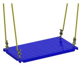 Навесное оборудование и дополнения для спортивных комплексов Вереск Качели пластиковые на металлическом каркасе