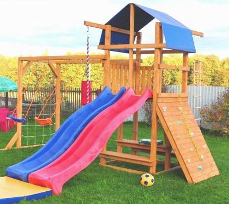 Деревянные спортивные комплексы и детские городки для установки на улице Компания Вита Детская игровая площадка