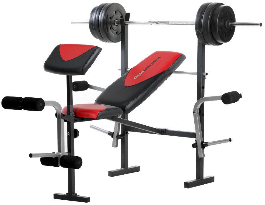Скамьи, стойки и атлетические центры со свободной нагрузкой Weider Многофункциональная скамья со стойкой Pro 256