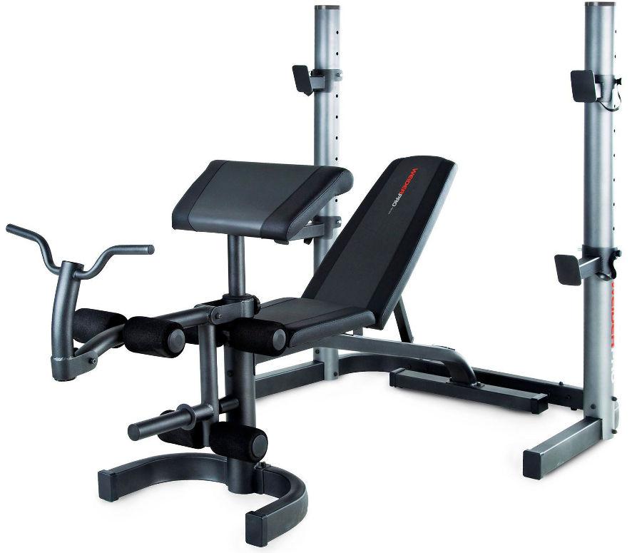Скамьи, стойки и атлетические центры со свободной нагрузкой Weider Силовая скамья со стойкой Pro 490 DC, WEEBVE29711