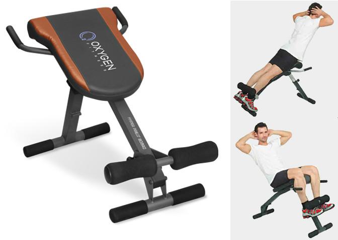 Гиперэкстензии и тренажёры для спины Oxygen Fitness Hyper Press Board, Гиперэкстензия + скамья для пресса