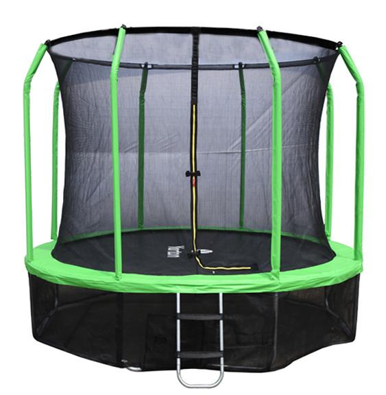 Батуты больших и средних размеров Yarton Батут 3,05 метра (10 футов) с сеткой и лестницей (зелёный), Yrt10FTGR