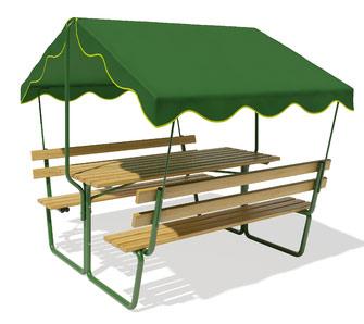 Прочее оборудование для детских площадок и игровых центров ЗИСО (Романа) Беседка садовая с тентом