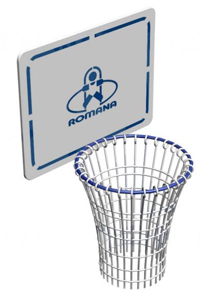 Навесное оборудование и дополнения для спортивных комплексов ЗИСО (Romana) ВО-92.04.01, Баскетбольный щит с кольцом к ДСК